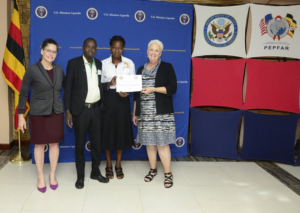 Awarded for performing excellent in HIV/AIDS prevention